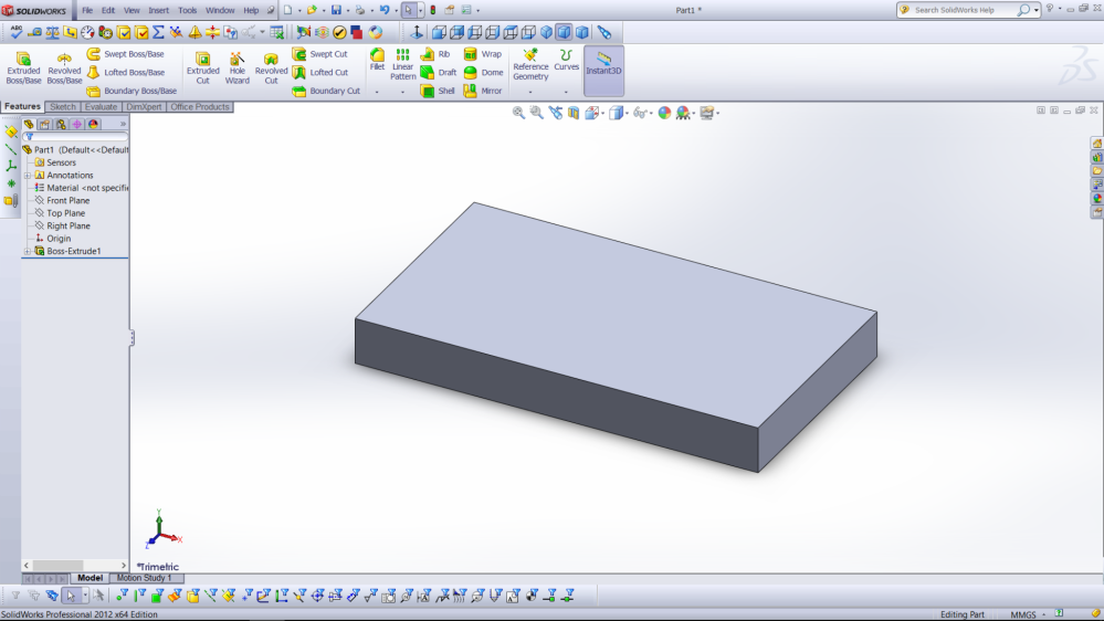 Solidwork boss/extrude