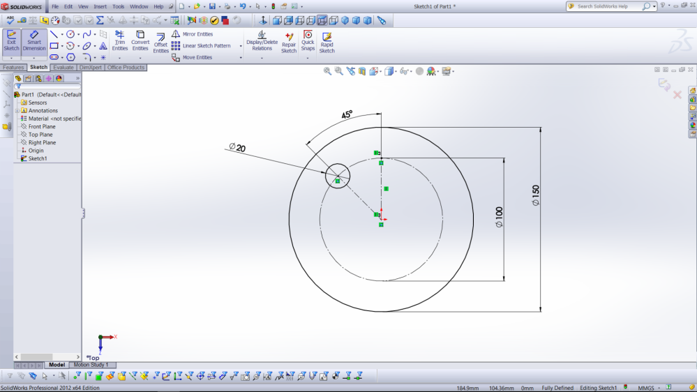 SolidWorks Dimension Example